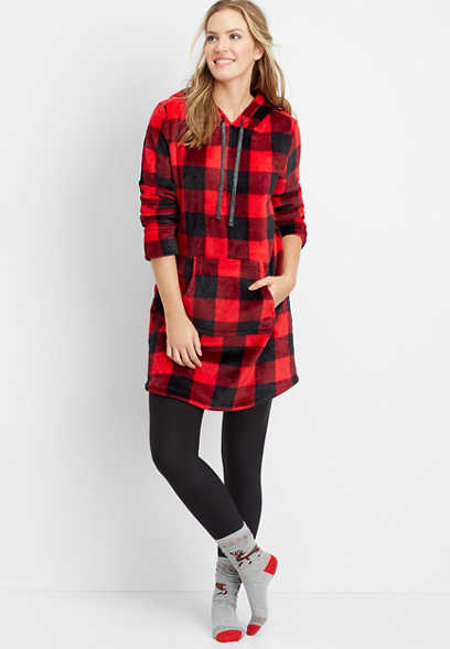 buffalo plaid lounger