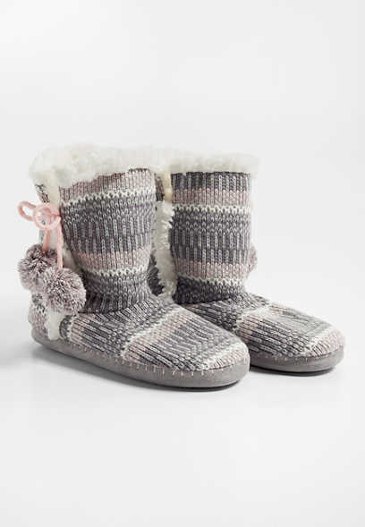 sweater bootie slipper