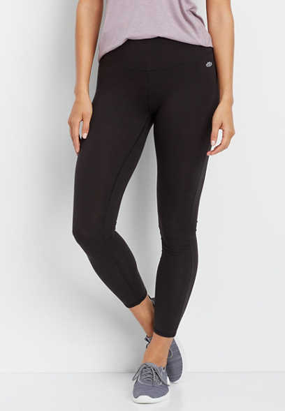 black high rise 7/8 length active legging