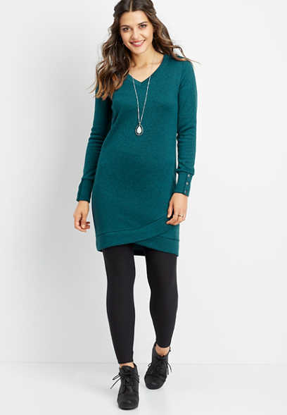 tulip hem snap sleeve dress