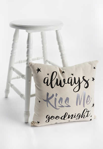 kiss me goodnight pillow