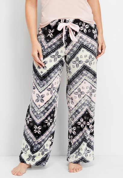 plush nordic chevron sleep pant