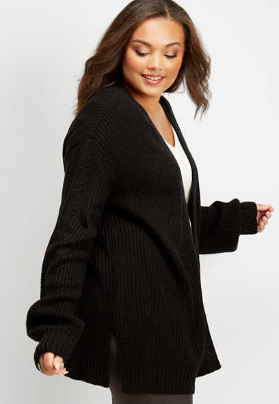 plus size blousen sleeve cardigan