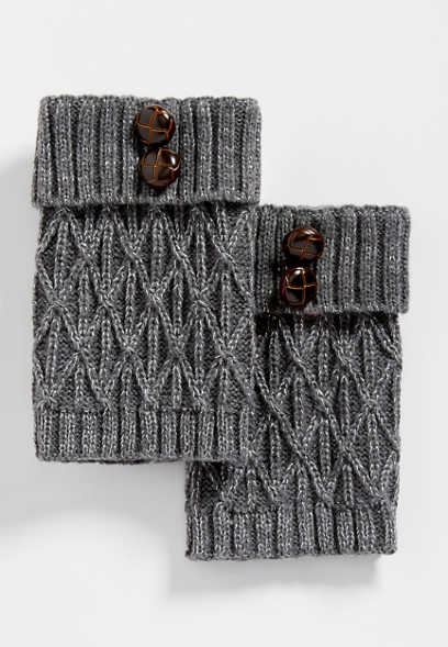 gray button boot cuffs