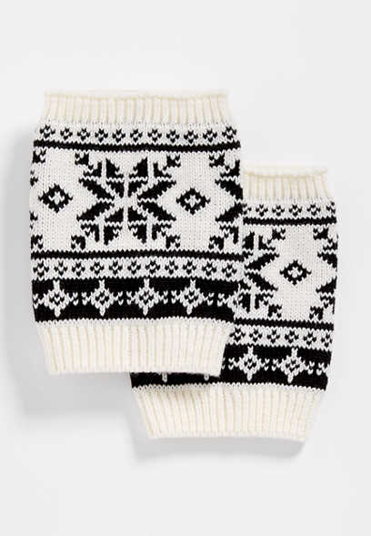 fairisle boot cuff
