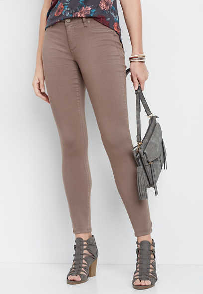 DenimFlex™ taupe color jegging