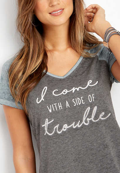 side of trouble graphic tee