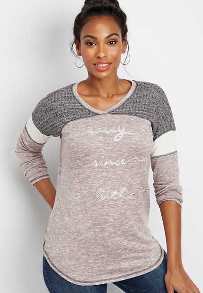 sassy since birth graphic pullover