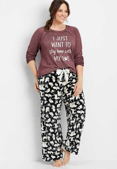 plus size critter print sleep pant