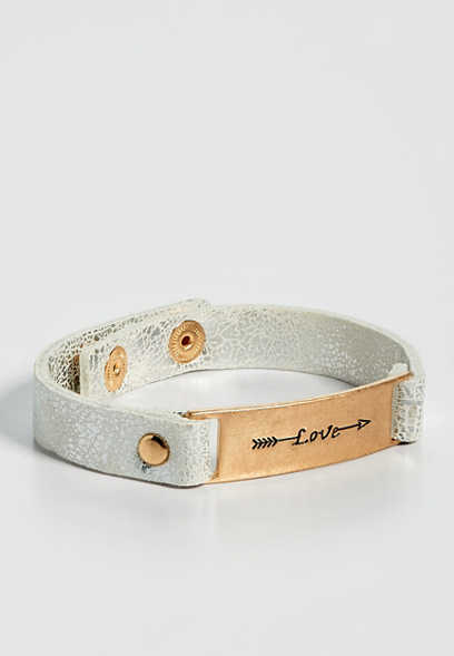 love arrow snap bracelet