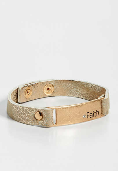 faith snap bracelet