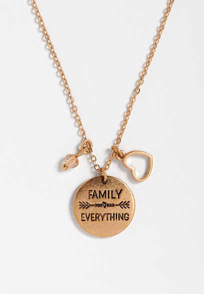 family over everything pendant necklace