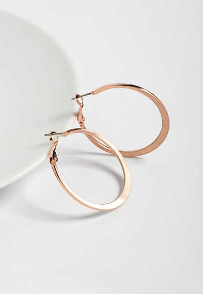 etched look hoop earring