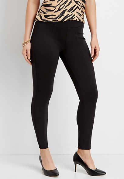 pull on ponte knit legging