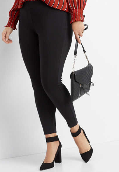 plus size black ponte legging