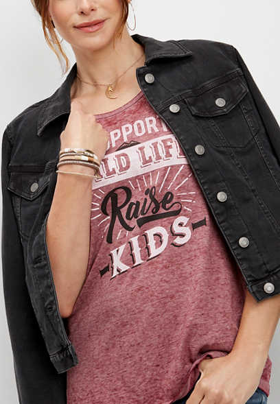 raise kids graphic tank
