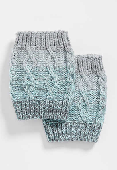 ombre knit boot cuff