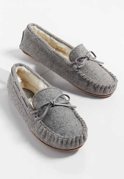 Harlow flannel slipper moccasin