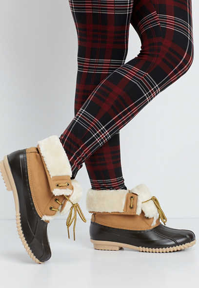 Carrie faux fur lined duck boot