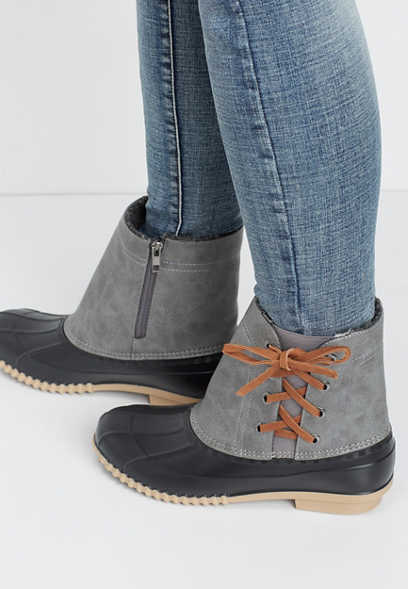 Christina side lace up duck boot