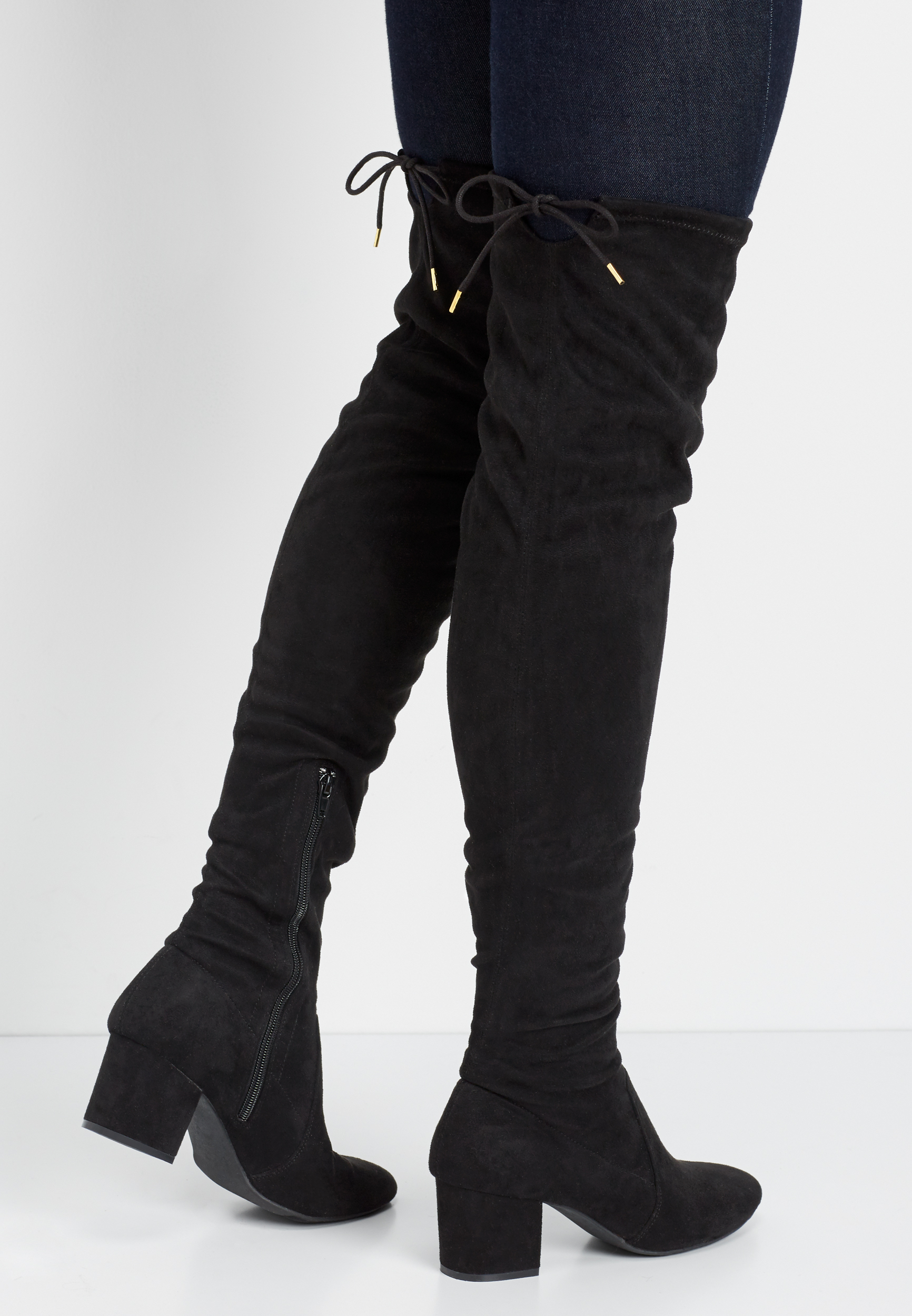 Gillian Faux Suede Knee High Boot by Maurices