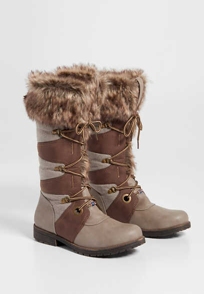 Ginny faux fur lined cold weather boot