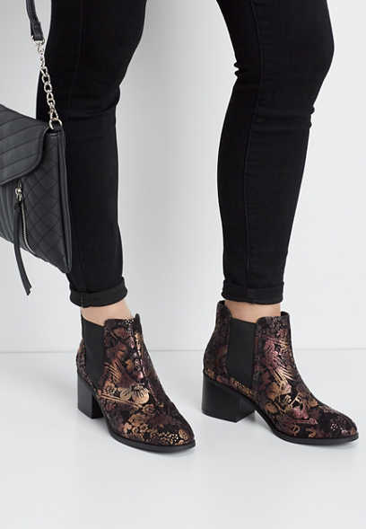 Chelsea brocade ankle bootie