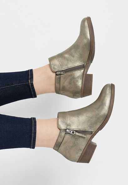 c80356246394 Cleo shimmer ankle bootie