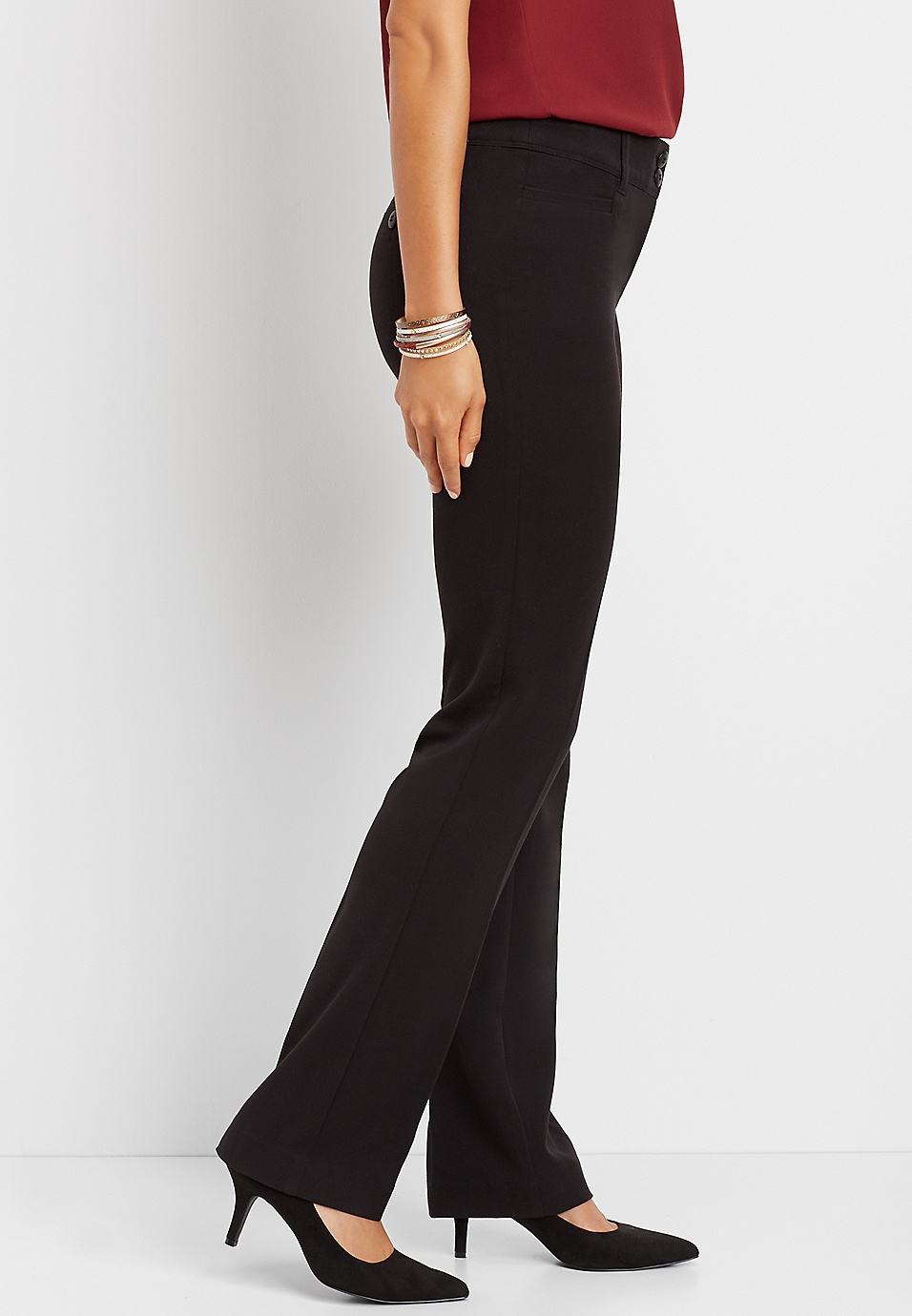 2ad7d6dfb black classic boot cut pant | maurices