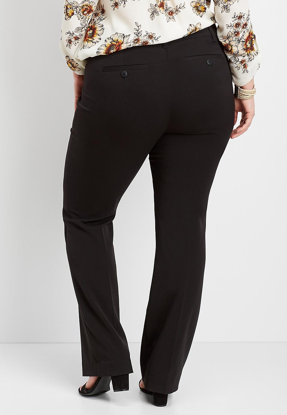 7292e4c18 plus size black classic boot cut pant | maurices
