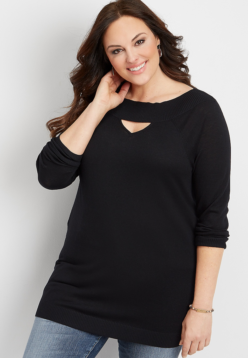 edb284afaf2 plus size boat neck tunic sweater | maurices