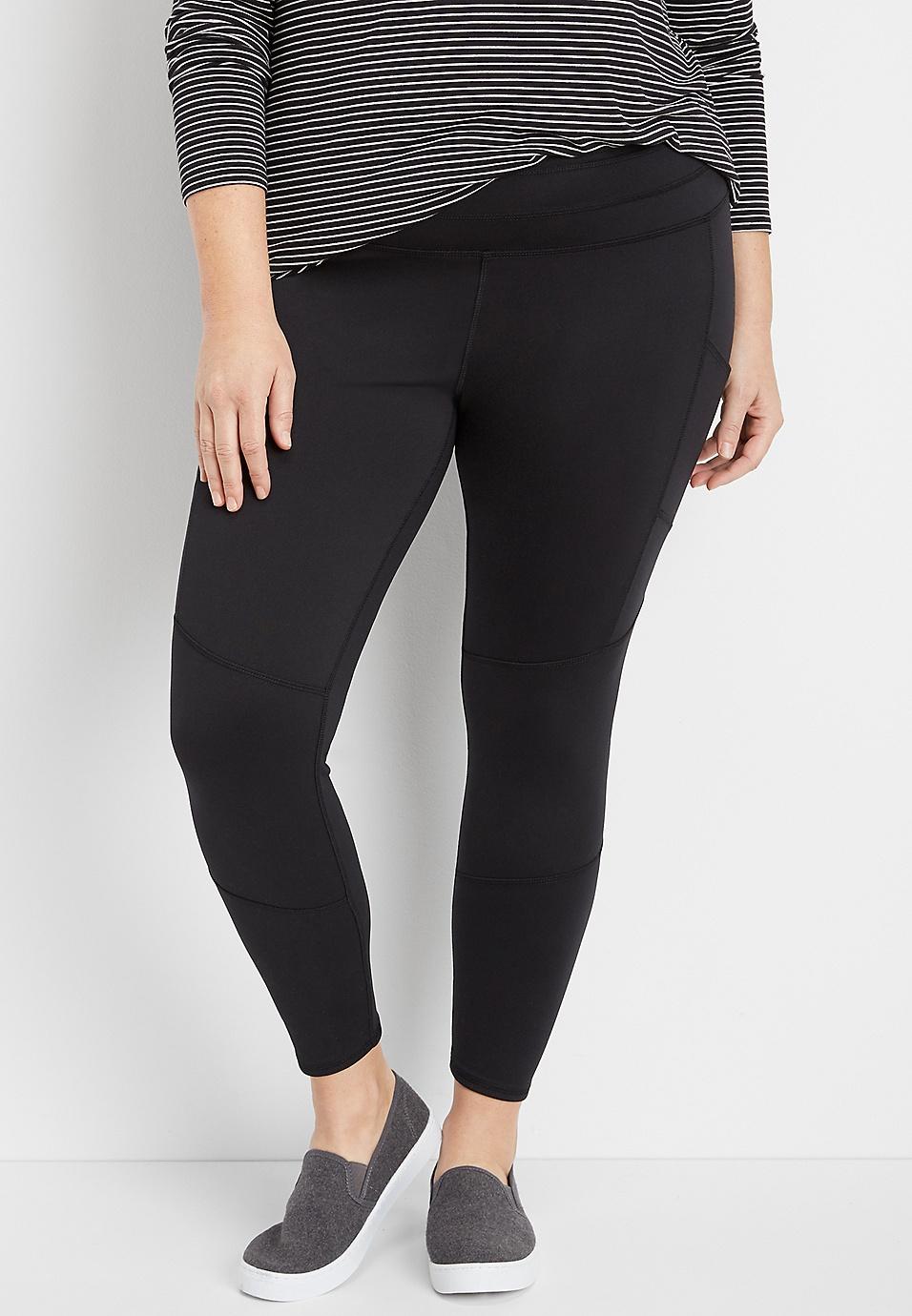 d7f31065eb332 plus size black 7/8 pocket active legging | maurices