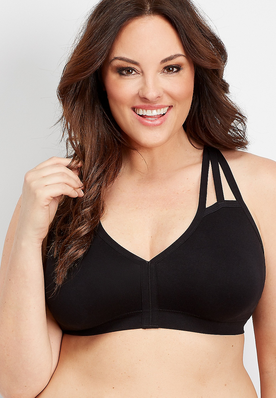 066bb64382d18 plus size seamless strappy bralette | maurices