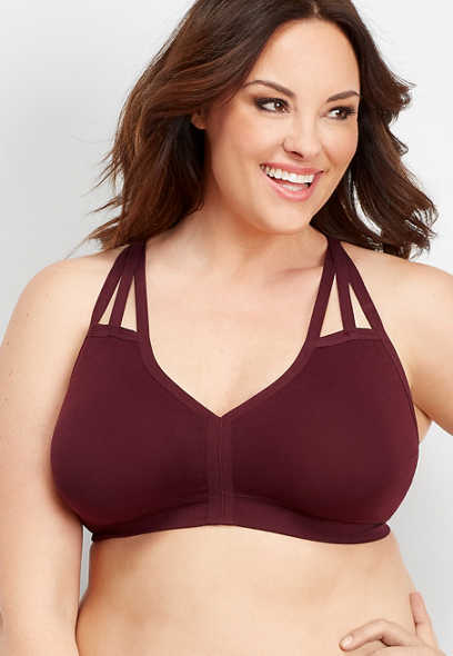 plus size seamless strappy bralette