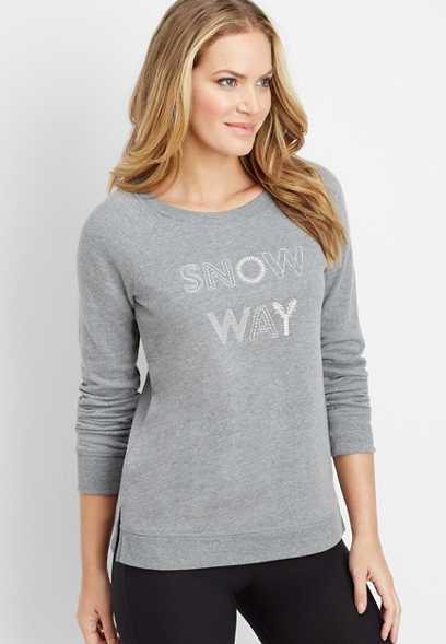 snow way graphic pullover