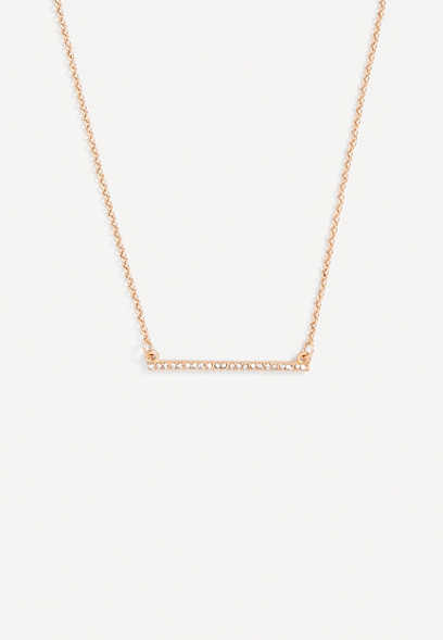 dainty rhinestone bar necklace