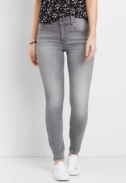 Everflex™ Gray High Rise Stretch Skinny Jean