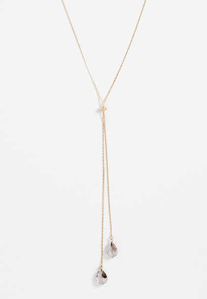 teardrop y-necklace