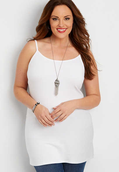 plus size basic tunic layering cami