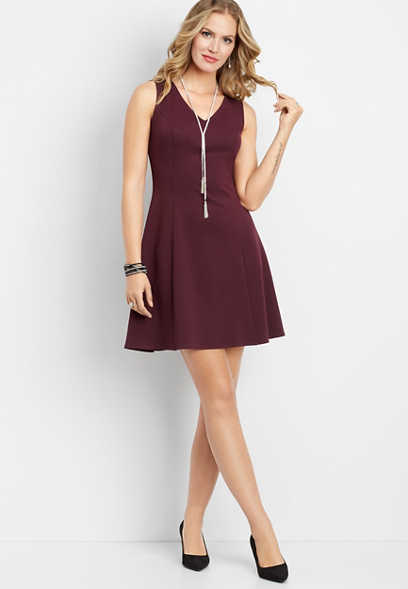 lace zip back dress