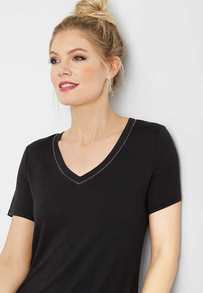 24/7 v-neck solid tee