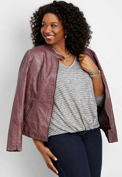plus size 24/7 twist hem shimmer top
