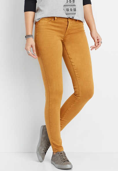 DenimFlex™ gold rust color jegging