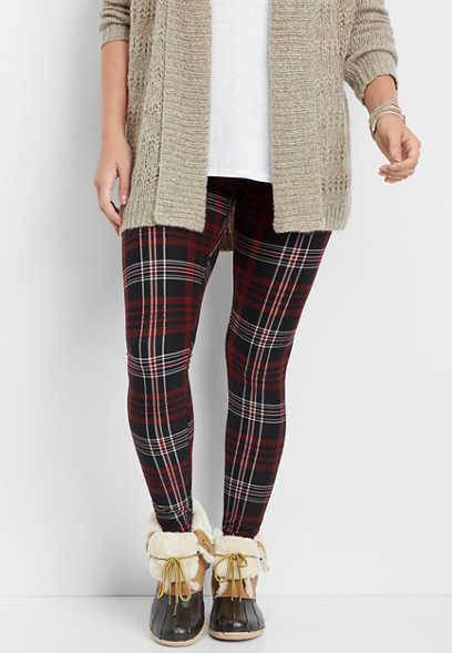 plaid ultra soft legging