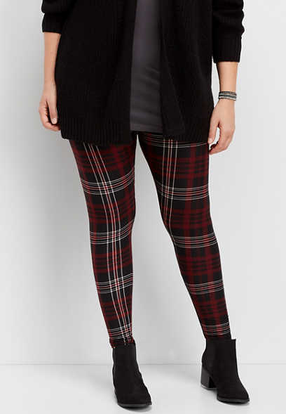 plus size plaid ultra soft legging