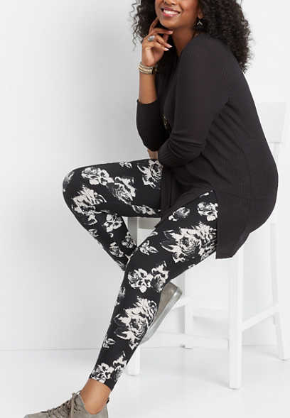 plus size floral ultra soft legging