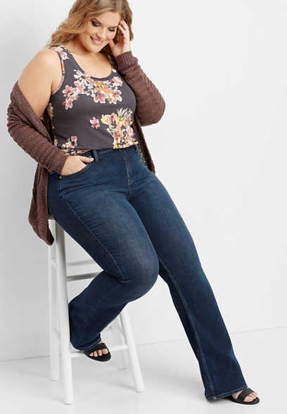 plus size Silver Jeans Co.® Mazy dark high rise bootcut jean