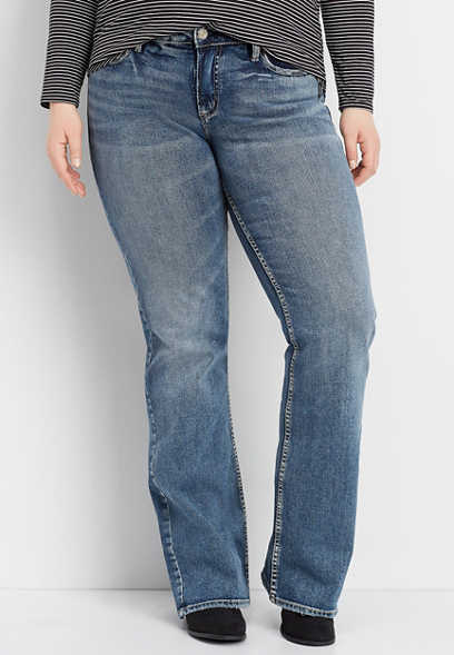 bced9cd7621 Plus Size Jeans | Straight, Flare, And High Rise Jeans | maurices