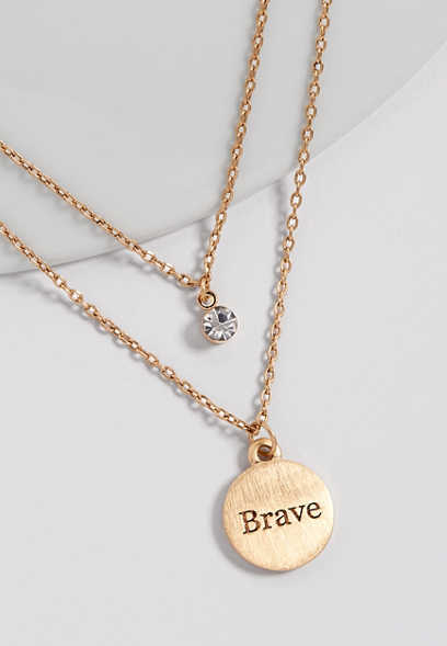 BCRF brave double row necklace