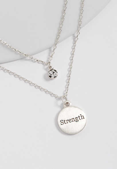 BCRF strength double row necklace